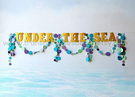 Bajo la decoraciones mar decoraciones para fiestas sirena