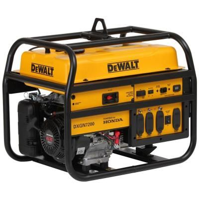 Dewalt 7200 Watt Gasoline Powered Recoil Start Portable Generator With Honda Engine Pd612mhb005 The Home Depot Portable Generator Dewalt Portable Generators