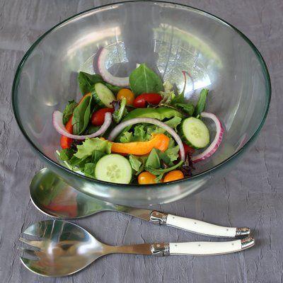 Alcott Hill Hixon 2 Piece Laguiole Salad Servers Set Gourmet Cheese