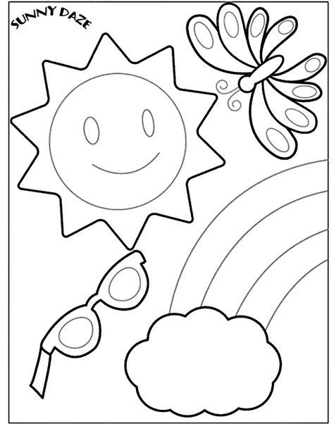 Crayola Coloring Page Pattern. | Summer coloring sheets ...