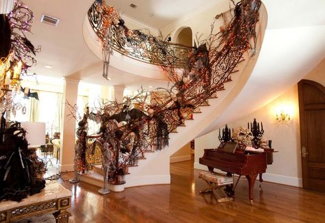 Decorating Ideas For Halloween Haunted House Home Design ... on christmas home designs, thanksgiving home designs, theater designs, modern family home designs, house home designs, star wars home designs,
