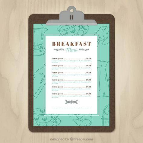 breakfast menus design - Google Search WildlyRefined Pinterest - breakfast menu template