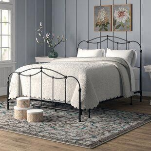 Fleur De Lis Living Crafton Standard Bed Bed Frame Panel Bed Iron Bed Frame
