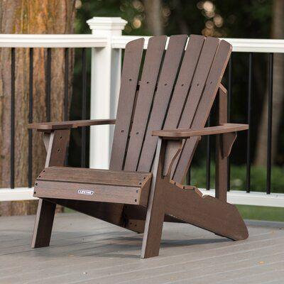 Lifetime Plastic Resin Adirondack Chair Color Rustic Brown