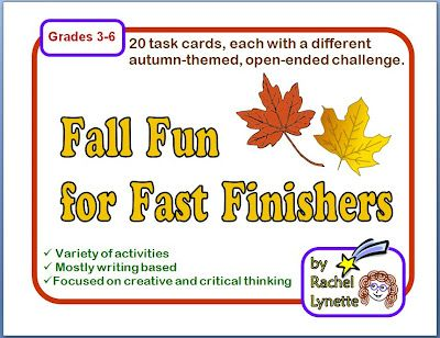 Fall Fun for Fast Finishers - FREE task cards!