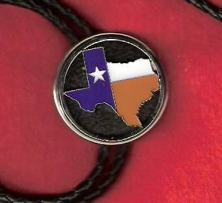Bolo With Texas Flag Colors In The Shape Of Texas Texas Flags Flag Colors Texas Outline