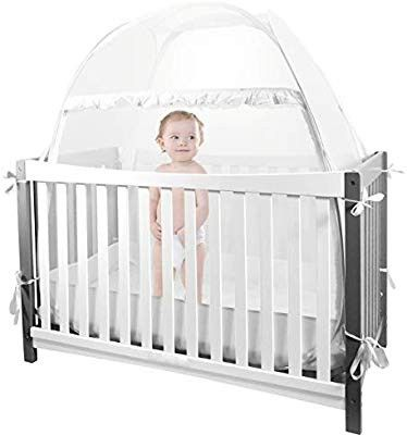 Baby Crib Tent Safety Crib Canopy Cover Pop Up Mosquito Net For Kids Nursery Mesh Crib Net Protects Against Mosquito Bites Falling Pro Berco Tenda Criancas