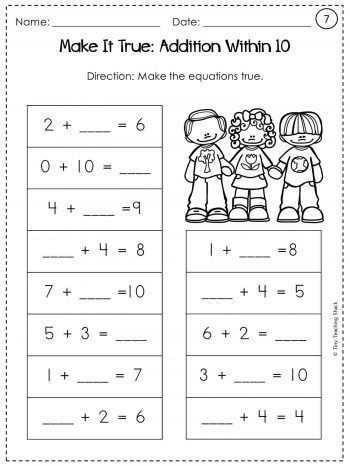 Unknown Numbers Worksheets First Grade Math Second Grade Math First Grade First grade common core worksheet