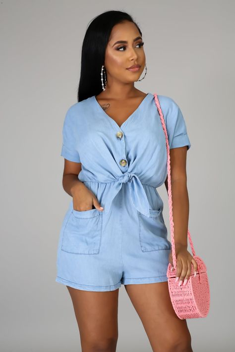 Cute Casual Outfits, Girly Outfits, Chic Outfits, Summer Outfits, Fashion Outfits, Fashion Tips, Chic Couture Online, Cute Rompers, Going Out Outfits