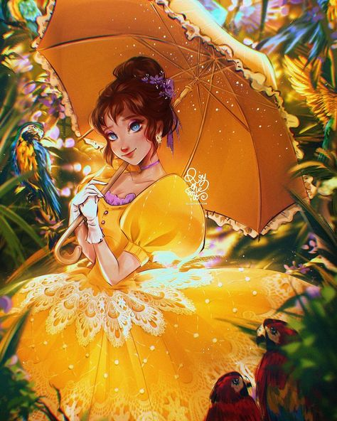 """ROY THE ART's Instagram photo: """"✦ DISNEY FANART VOL2:  JANE PORTER✦  The next character of the series is Jane Porter, another non-Disney princess with amazing…"""""""