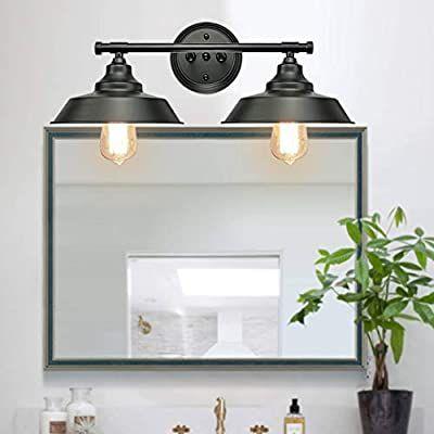 Amazon Com Goodyi 2 Lights Vanity Wall Sconce Lighting Rustic Style Matte Bathroom Light Fixtures Black Bathroom Light Fixtures Bathroom Wall Light Fixtures Matte black bathroom light fixtures