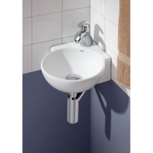 Cheviot 1349 Wh 1 12 Inch Corner Wall Mount Or Vessel Sink Less Faucet Corner Sink Bathroom Sink Tiny Bathroom Sink