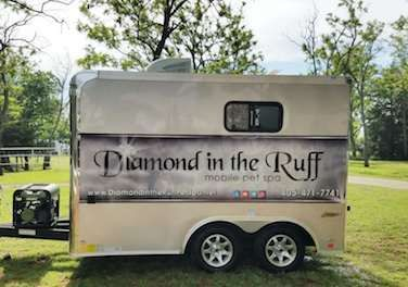 Mobile Dog Grooming Trailer Custom Built By Diamond In The Ruff Mobile Dog Pet Spa Mobile Pet Grooming Dog Grooming Dog Grooming Salons