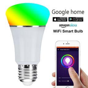 Polarless Dimming Wifi Bulb App Remote Control Led Bulb Docking