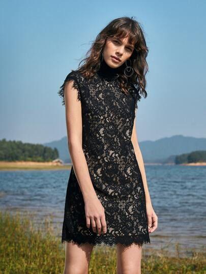 24++ Lace overlay dress ideas