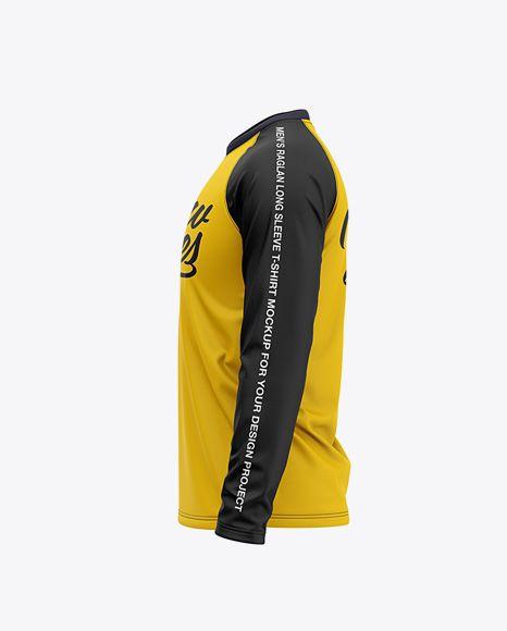 Download Men S Raglan Long Sleeve T Shirt Mockup Side View In Apparel Mockups On Yellow Images Object Mockups Shirt Mockup Clothing Mockup Design Mockup Free