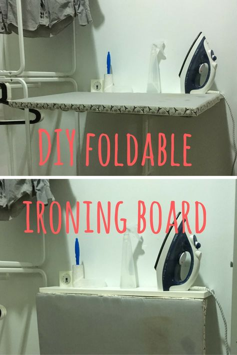 A Space Saving Diy Ironing Board Ikea Hackers Diy Ironing Board Ironing Board Laundry Room Diy