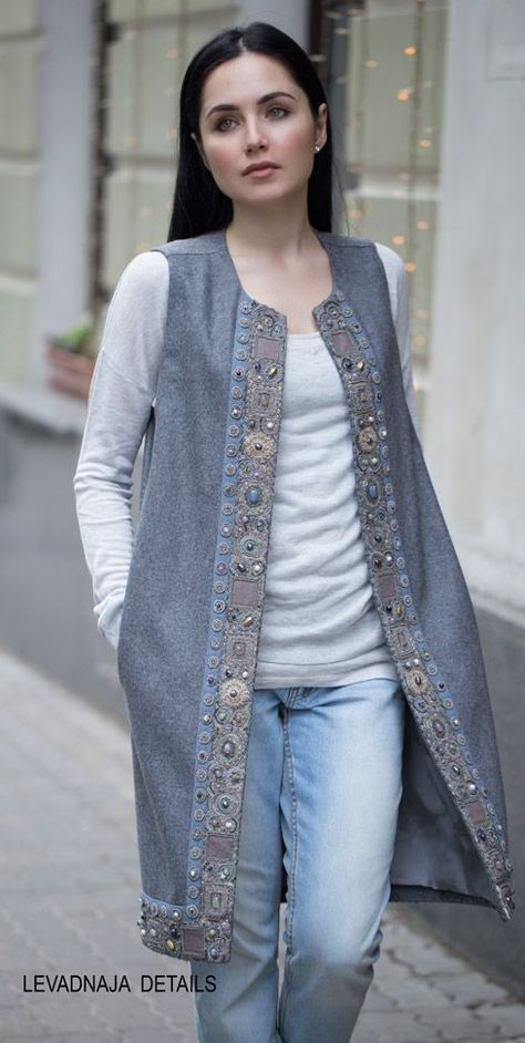 The vest is long from cashmere. - - The vest is long from cashmere. Jacket Dress Models Moreover, this season it's very fashionable Choose up long-line blazers and also you'll present ev.
