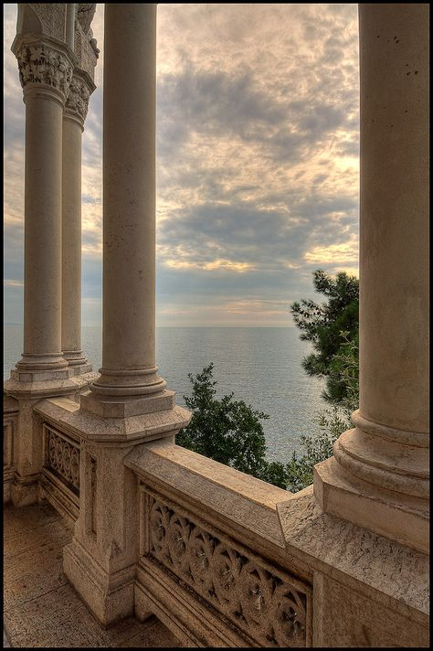 Miramare Castle, Bay of Grignano, Trieste, Friuli-Venezia Giulia region of Italy. Just outside of Trieste, Italy - my mother's hometown. Beige Aesthetic, Aesthetic Boy, Summer Aesthetic, Trieste, Photo Wall Collage, Travel Aesthetic, Camping Aesthetic, Photo Instagram, Aesthetic Pictures