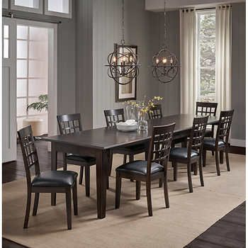 Alec 9 Piece Dining Set Dining Room Sets Dining Room Design Dining Table Dimensions