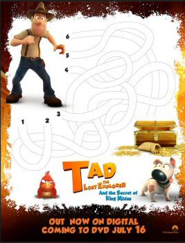 Tad The Lost Explorer And The Secret Of King Midas Free Printables