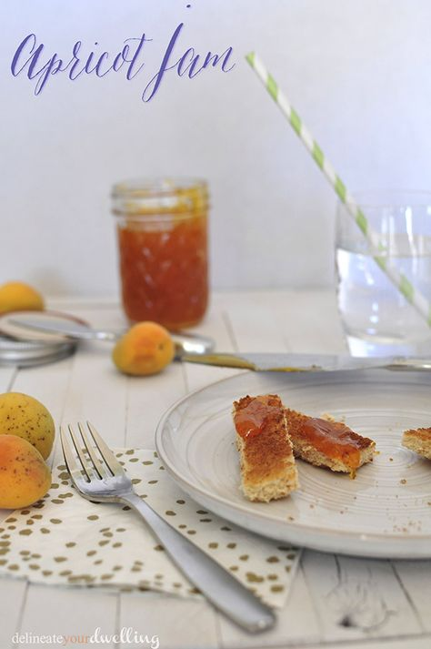 Apricot Jam, Delineate Your Dwelling #jelly #fruit #farmtotable #gardentotable