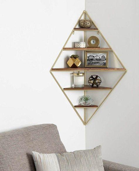 14 brilliant storage ideas for small spaces - Corner shelf