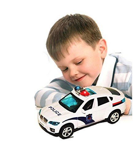 Police Toy Car Battery Operated Bump And Go Action Novelty Cop With Sirens And Lights Changes Direction On Contact Christmas Gi Toy Car Kids Toys Police Toys