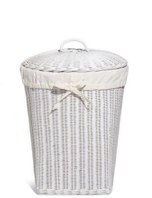 White Rattan Corner Laundry Basket Corner Laundry Basket Rattan