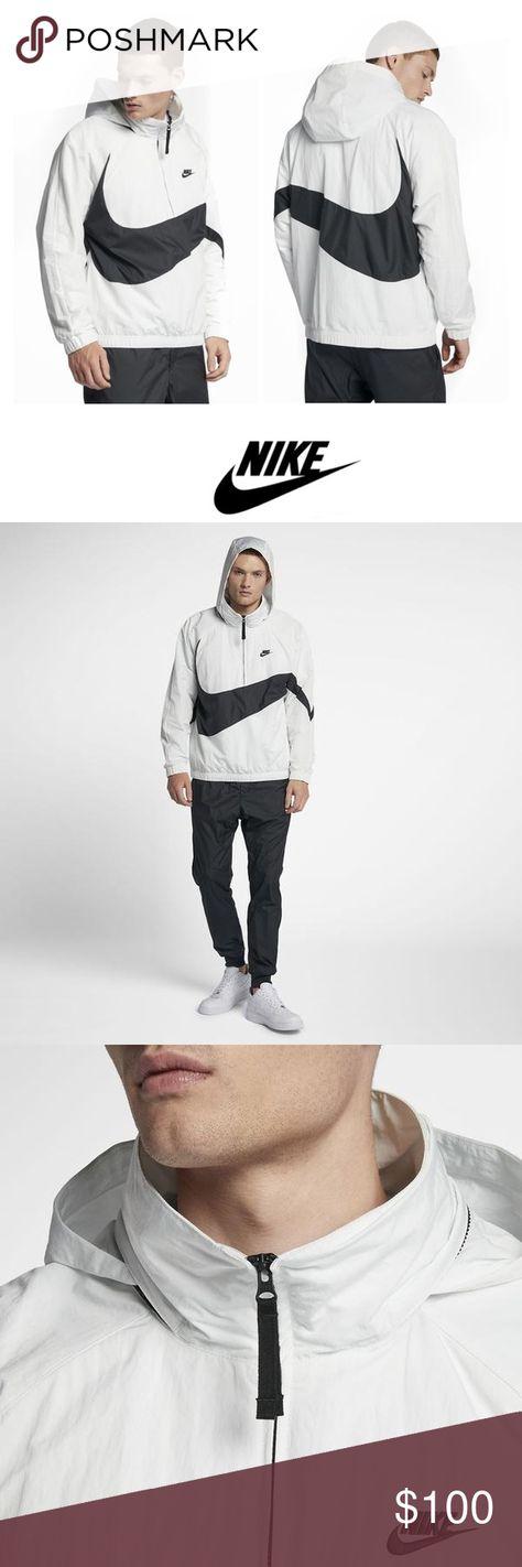 Nike Big Swoosh Logo Jacket Jacket Brands Ripstop Fabric Jackets