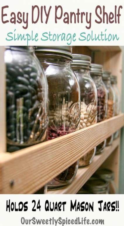 59 Ideas Craft Storage On A Budget Mason Jars For 2019 Mason Jar Kitchen Decor Mason Jar Kitchen Mason Jar Storage