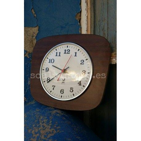 Reloj De Pared Vintage Jaz Electric Francia Años 60 Maquinaria Original Tienda Www Soulvintage Es Reloj De Pared Relojes De Pared Pared