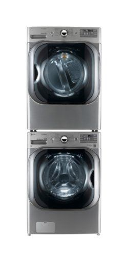 Lg Titan Laundry Pair Mega Capacity Graphite Steel Washer