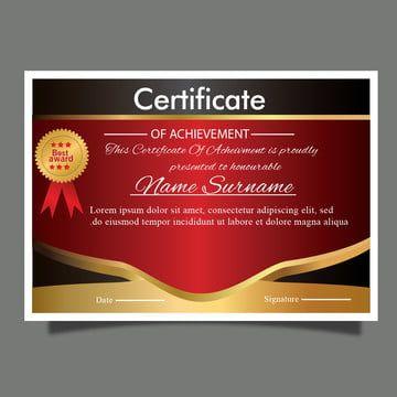 Elegante Modelo De Certificado O Diploma Premio Oro Para Graduacion Certificate Design Template Certificate Templates High School Transcript