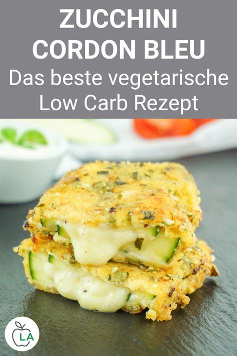 Dieses Zucchini Cordon Bleu ist eines der besten vegetarischen Low Carb Rezepte zum Abnehmen. Sieh dir hier das gesunde Rezept für abends an. #abnehmen #rezept #gesund