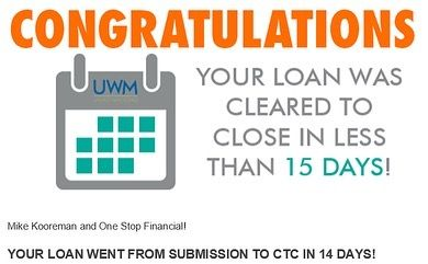 14 Days And 15 Days Clear To Close On My Two Most Recent Loans If You