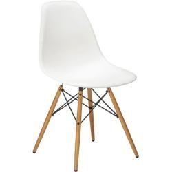 Vitra Stuhl Eames Plastic Side Chair Dsw 83x46 5x55 Cm Weiss Gestell Ahorn Designer Charles Ray In 2020 Stuhl Design Vitra Stuhl Und Holz