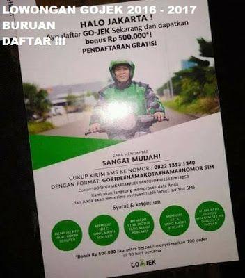 Disini Kamu Akan Di Pandu Cara Melamar Menjadi Anggota Gojek Indonesia Dengan Cara Daftar Gojek Via Sms Sms