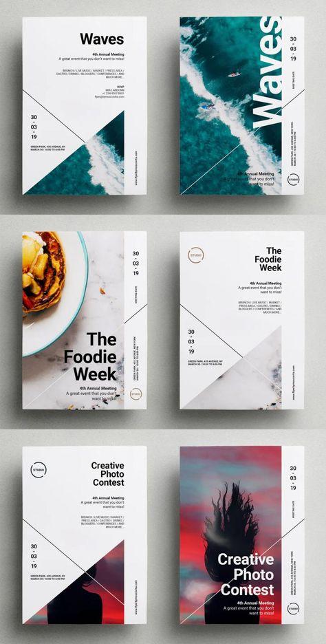 Line Flyer Template InDesign INDD