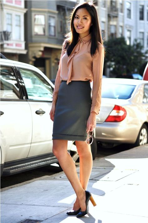 03a0c2b9a7c Get inspired   tshirt   pencil skirt