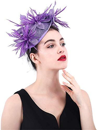 Elegant Flower Feather Fascinator  Headband and clip Race Royal Ascot Party