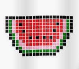 Modèle Pour Faire Une Pastèque En Pixel Art Pixel Pixel