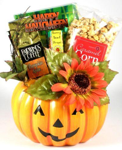 Gourmet halloween gift baskets