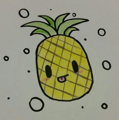 Ananas Credit kawaii pineapple profile pic for @rainbopineapple credit : cucumber