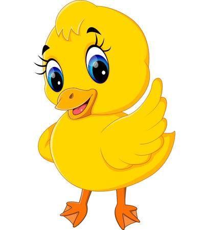 Ilustracion De Dibujos Animados Lindo Del Pato Del Bebe Patitos Tiernos Caricatura De Bebe Caricatura De Pato