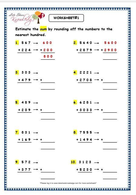 Estimation Maths Worksheets Maths Estimation Worksheets To All Of My Teaching Friends Math Worksheet Printable Math Worksheets Educational Worksheets