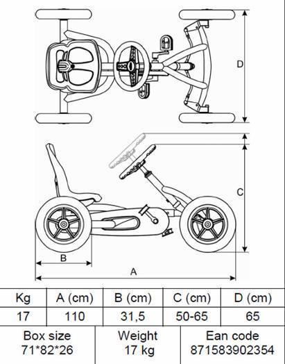 Kart infantil pedales berg buddy orange. be242060 -  - #be242060 #Berg #buddy #infantil #Kart #Orange #pedales