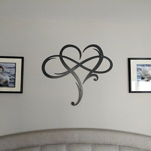 Personalized Heart Infinity Symbol With Heart And Custom Etsy Etsy Wall Art Metal Wall Art Metal Signs
