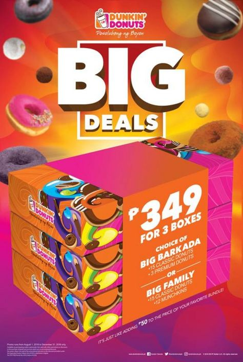 Dunkin Donuts Big Deals Until December 31 2018