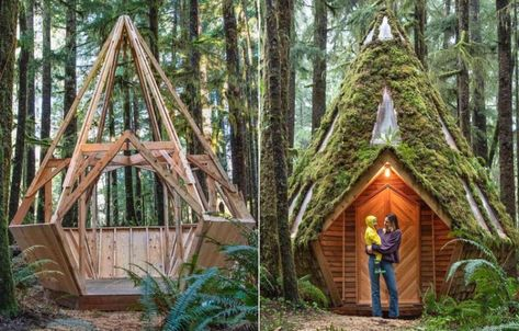 Inside Cabinland, the Pacific Northwest's Newest Off-the-grid Paradise - - We've all found ourselves fantasizing about seeking refuge from life's constant demands by decamping to an isolated mountain cabin from time. Cedar Forest, Sara Underwood, Multnomah Falls, Tiny House Cabin, San Juan Islands, Off The Grid, Best Hikes, Cozy Place, North West